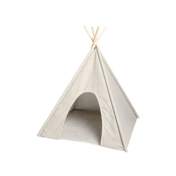 Apodaca Ticking Stripe Pet Teepee Hooded by Tucker Murphy Pet