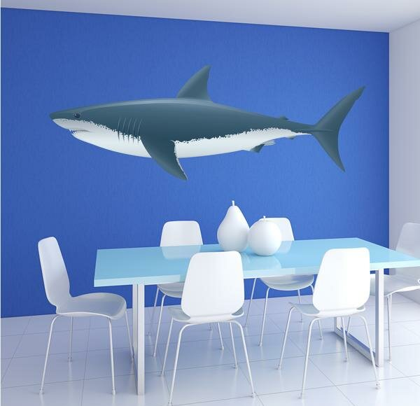 Colorful Shark Wall Decal by Style and Apply