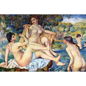 The Large Bathers by Pierre - August Renoir Painting Print on Wrapped Canvas by Buyenlarge