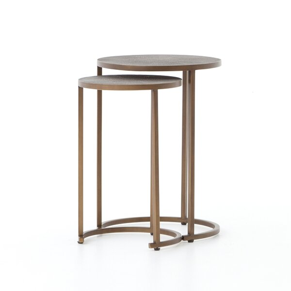 Leyden 2 Piece Nesting Tables By Bungalow Rose
