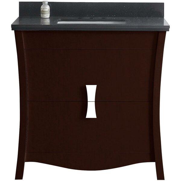 Cataldo Floor Mount 36 Single Bathroom Vanity Set with 4 Centers Faucet Mount by Royal Purple Bath Kitchen