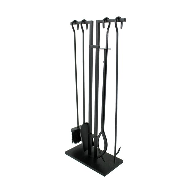 4 Piece Steel Fireplace Tool Set by Habitat Products