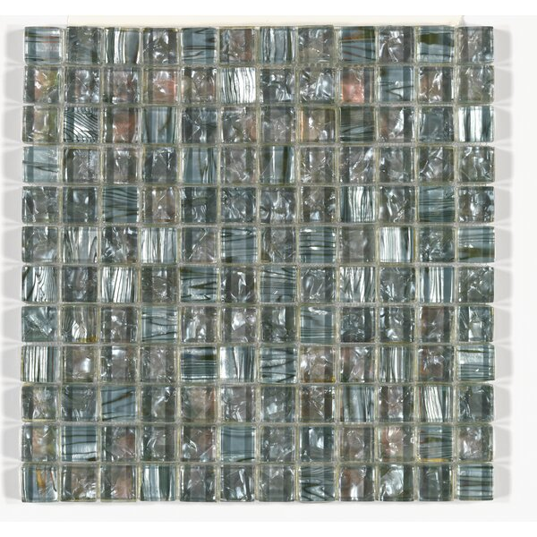 Accent Statements 12 x 12 Glass Mosaic Sheet Glass Block Tile in Silver Moon by Mohawk Flooring