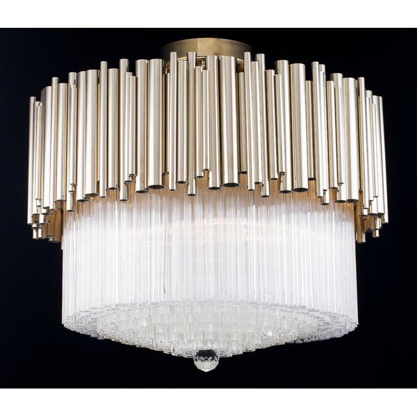 Rivera 6-Light Unique / Statement Tiered Chandelier by Everly Quinn Everly Quinn