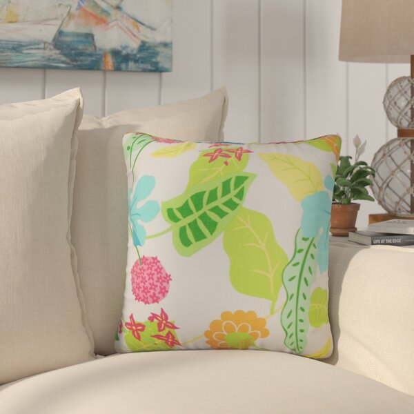 Cole Floral Outdoor Throw Pillow by Bayou Breeze