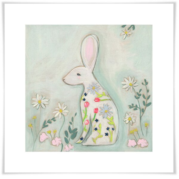 Jerri Faithful Love Paper Print by Harriet Bee