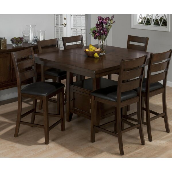 Anton Wooden 7 Piece Pub Table Set by Longshore Tides
