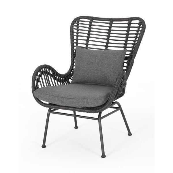 Tarnowski Wicker Patio Chair With Cushions (Set Of 2) By Bungalow Rose