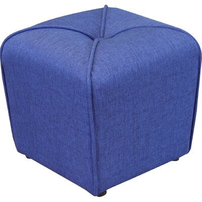 Bellatrix Tufted Cube Ottoman Upholstery Color: Deep Blue by Andover Mills