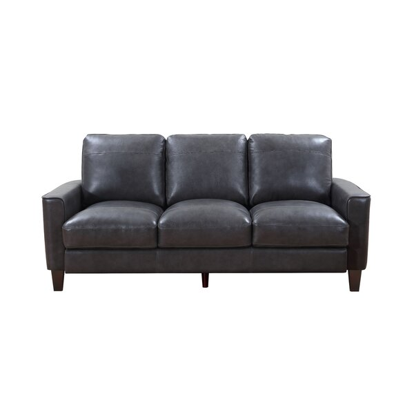 Izaiah Leather Sofa By 17 Stories