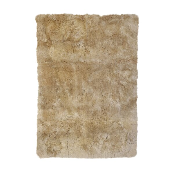 Christofor Sheepskin Longwool Linen Rug by Willa Arlo Interiors