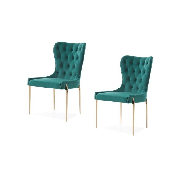 Christchurch Upholstered Dining Chair (Set of 2) by Everly Quinn Everly Quinn