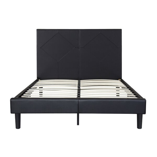 Strickler Faux Leather Platform Bed Frame by Red Barrel Studio