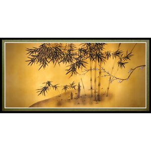 'Bamboo Tree' Framed Painting Print by World Menagerie