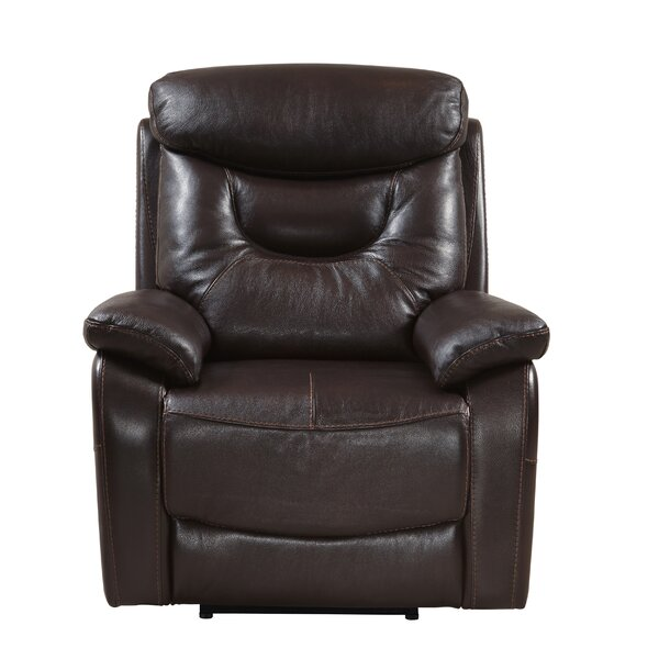 Oh Leather Power Recliner by Red Barrel Studio