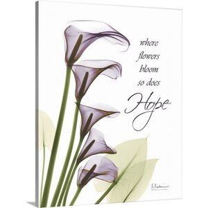 Calla Lilies Hope X-Ray by Albert Koetsier Photographic Print on Wrapped Canvas by Great Big Canvas