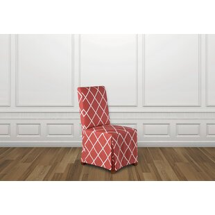 Lattice Box Cushion Dining Chair Slipcover