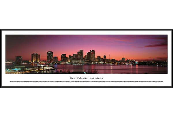 New Orleans, Louisiana by James Blakeway Framed Photographic Print by Blakeway Worldwide Panoramas, Inc