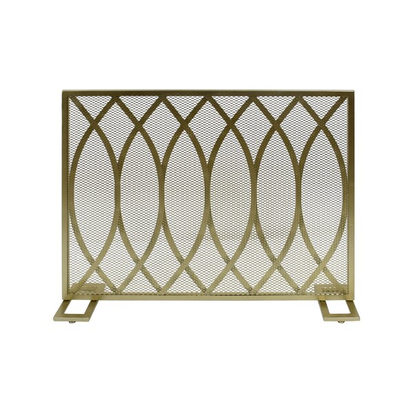 Edwin 1 Panel Iron Fireplace Screen By Home Loft Concepts