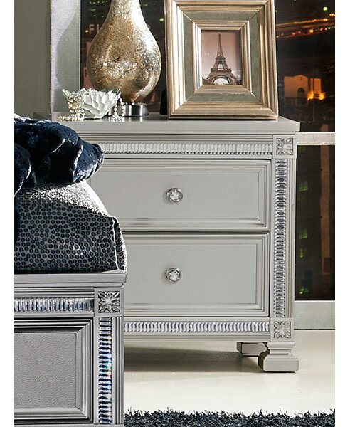 Sharla 2 Drawer Nightstand By House Of Hampton by House of Hampton 2020 Sale