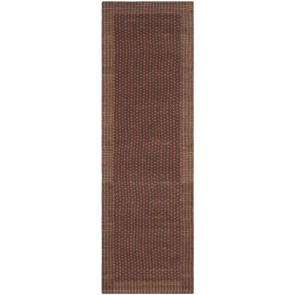 Greene Contemporary Brown/Rust Area Rug by Beachcrest Home