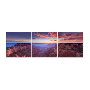 Grand Canyon 3 Piece Photographic Print Set by 3 Panel Photo