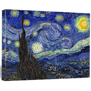 'Starry Night' by Vincent Van Gogh Painting Print on Wrapped Canvas by Buy Art For Less