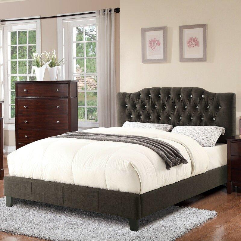 norman queen upholstered platform bed