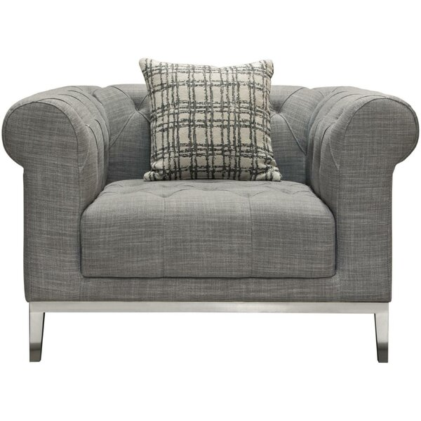 Veans Button Tufted Fabric Upholstered Chesterfield Chair by Rosdorf Park