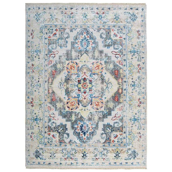 Tolland Blue/Cream Area Rug by Bungalow Rose