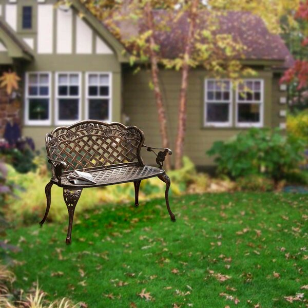 Lilyanna Metal Garden Bench by August Grove August Grove