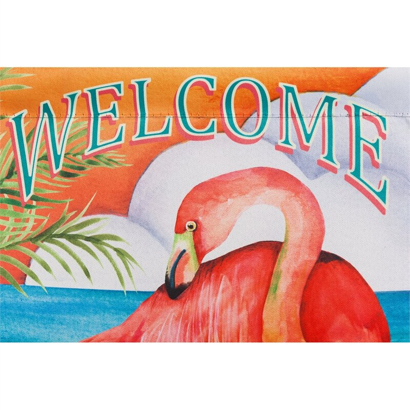 Evergreen Flag Garden Welcome To Paradise Suede Garden Flag Reviews Wayfair Ca