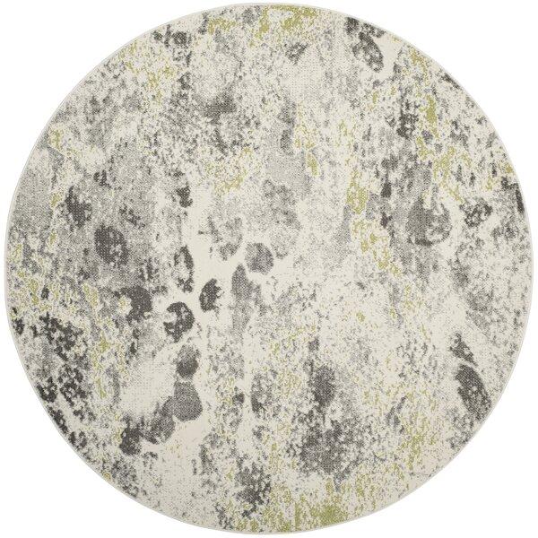 Seybert Beige/Gray Area Rug by Wrought Studio