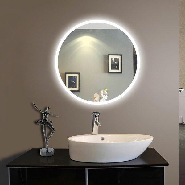 Delphia Frameless Lighted Bathroom/Vanity Mirror