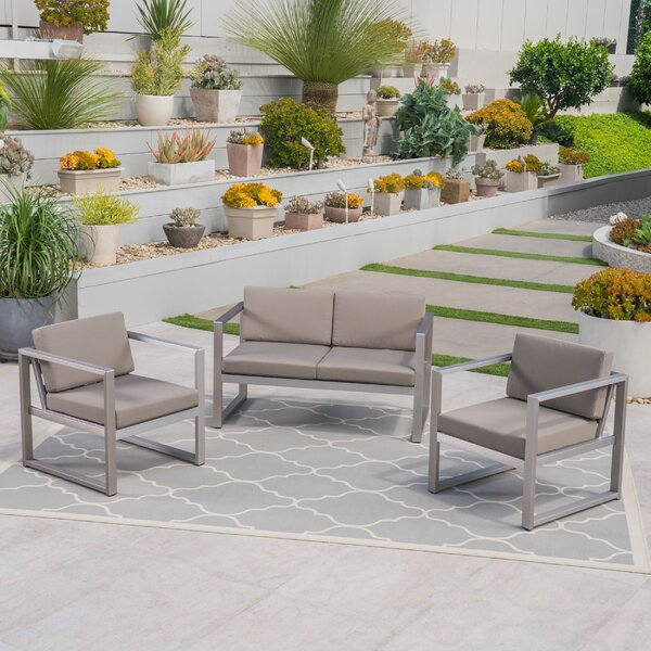 Delight 3 Piece Sofa Seating Group by Ebern Designs