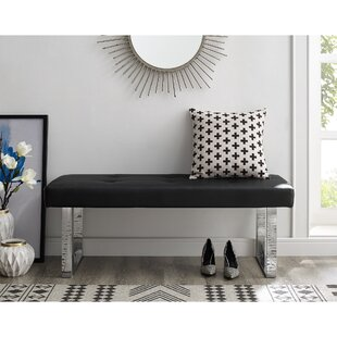 Lord Faux Leather Bench By Orren Ellis