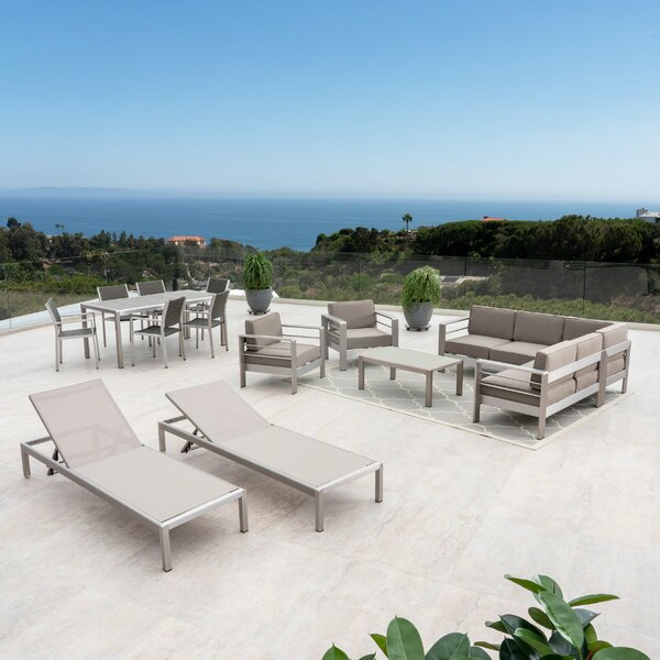Royalston 15 Piece Complete Patio Set with Cushions by Brayden Studio