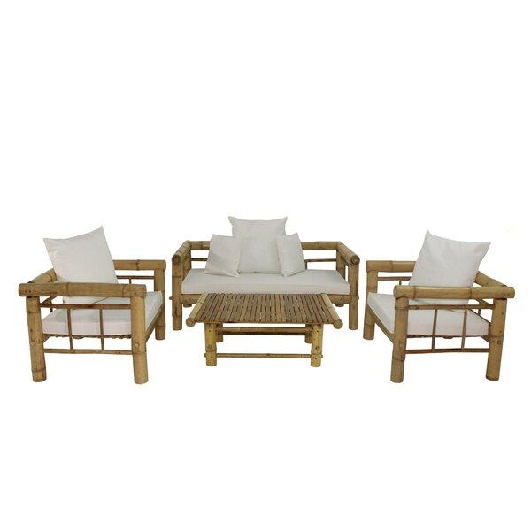 Kozan 4 Piece Sofa Set with Cushions by Bay Isle Home