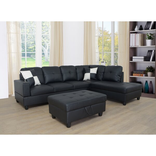 Wellington Living Room Sectional With Ottoman By Ebern Designs
