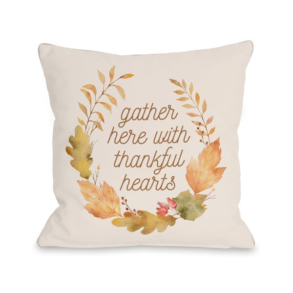 Indre Gather Here Throw Pillow by August Grove