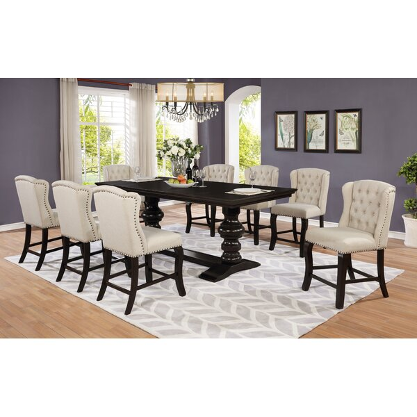 Sabin 9 Piece Extendable Dining Set by Canora Grey