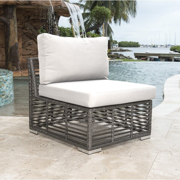 Graphite Modular Patio Chair with Cushion by Panama Jack Outdoor Panama Jack Outdoor