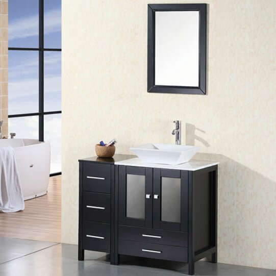 Jackson Heights 36 Single Bathroom Vanity Set with Mirror by dCOR design
