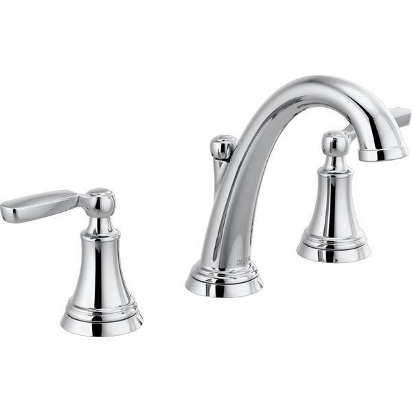 Woodhurst Widespread Bathroom Faucet with Drain Assembly by Delta