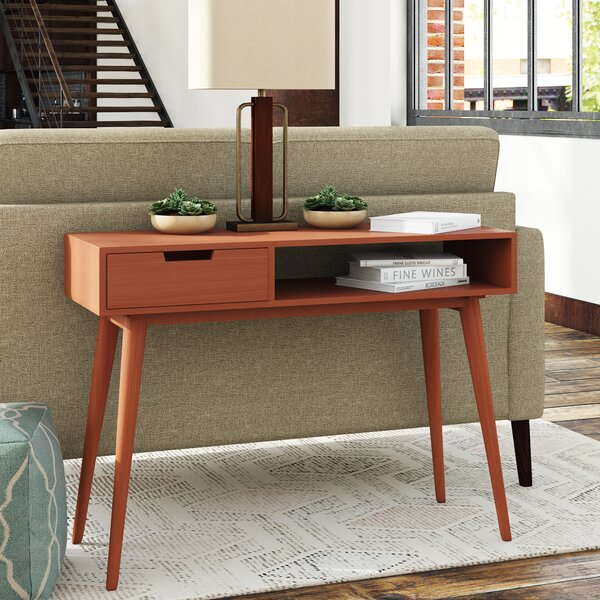 Review Brookline Mid-Century Console Table