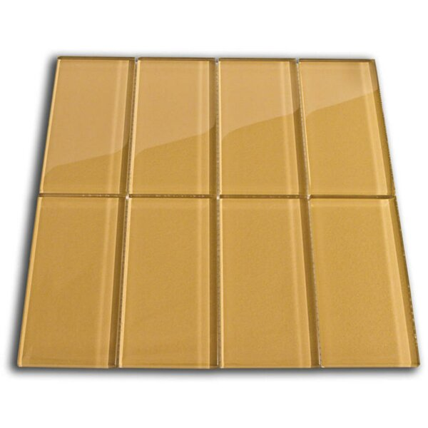 Copper 3 x 6 Glass Mosaic Tile in Sahara by CNK Tile