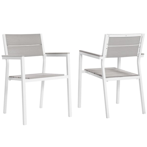 Ellport Patio Arm Chair (Set of 2) by Latitude Run