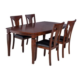 Victoria 5 Piece Solid Wood Dining Set ByTTP Furnish