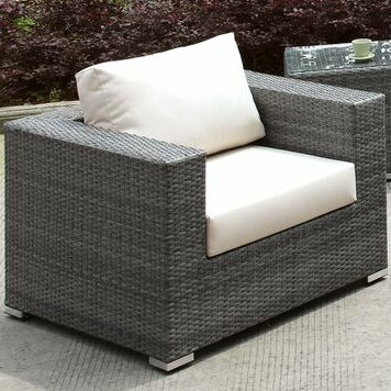 Peters Outdoor Arm Chair with Cushions by Brayden Studio Brayden Studio