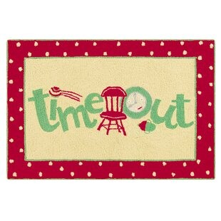 Big Save Dunand Time Out Wool Red Area Rug ByZoomie Kids